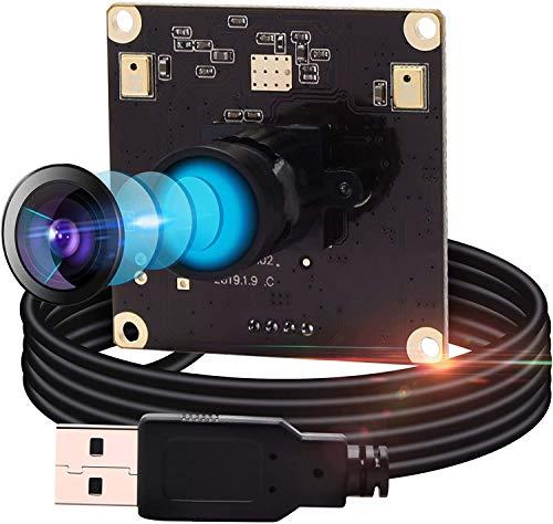 ELP 13 Megapixel Webcam IMX214 Sensor Ultra HD PC Web Kamera mit 100 Grad No Distortion Objektiv Mini Kamera 3840x288010fps fur MacLinuxRaspberry PiUSB Videokonferenz 4K Webkamera USB13M02 V100