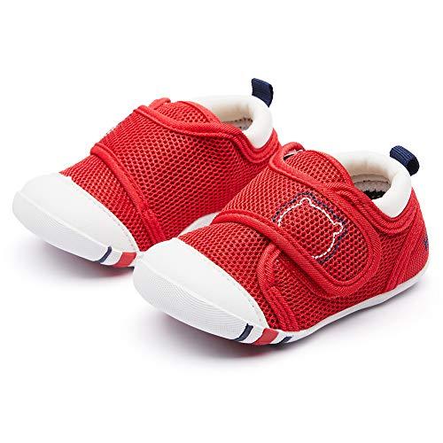 GUBARUN Babyschuhe für Jungen, Mädchen, weiche Sohle, Rot,19 EU