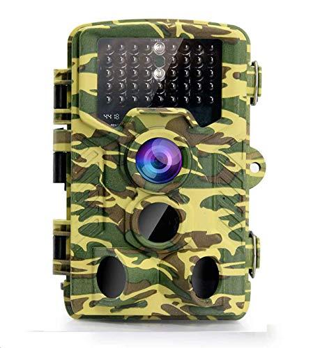 Asiwo Wildkamera, 16MP 1080P Outdoor Überwachungskamera mit Bewegungsmelder 120° Weitwinkel Nachtsicht 20m mit P65 wasserdichte IR-LEDs Design für Outdoor Wildlife-Jagd und Haussicherheit