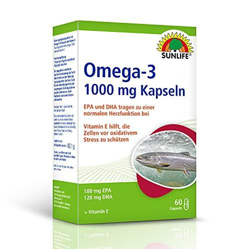 SUNLIFE Omega-3 Kapseln mit Fischöl DHA und EPA: Schutz für Gehirn und Augen, 1.000mg