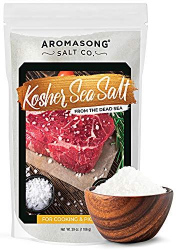 Aromasong 100% Natural Sea Salt, Kosher Salt Grain, Large Bulk 2.43 Lb Resealable Bag, All Natural, Unrefined, Gluten Free, Grinder Refill, Sea Salt for Daily Cooking or To Use as Pickling Salt