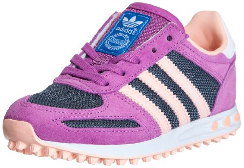 Adidas Originals LA Trainer K-5 - Zapatillas Deportivas Infantil, Color púrpura, Talla 2 UK
