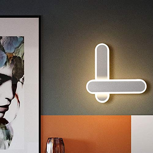 The only good quality Decoración Acrílico Tres Simple Rectangular Luz Decoloración Pared Pared Moderno Sólido Moda Creativa Personalidad Lámpara LED (L * 22 * 5 Espesor Alto 22 cm)