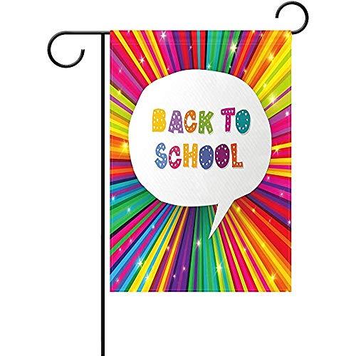 Zome Lag Tuin Vlaggen Kleurrijke Regenboog Gekleurde Potloden Terug naar School Huis Yard Vlag Twinkle Stars 32X45.7CMvoor Huis Tuin School Party Decor
