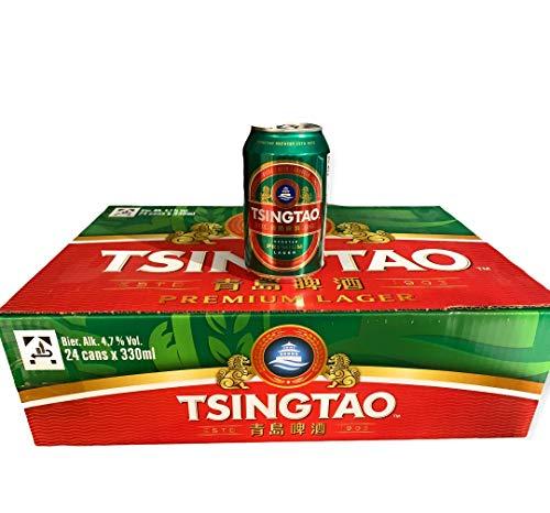 24 Dosen vom chinesischem Tsingtao Bier Premium Lager 0,33l inkl. & Euro Pfand
