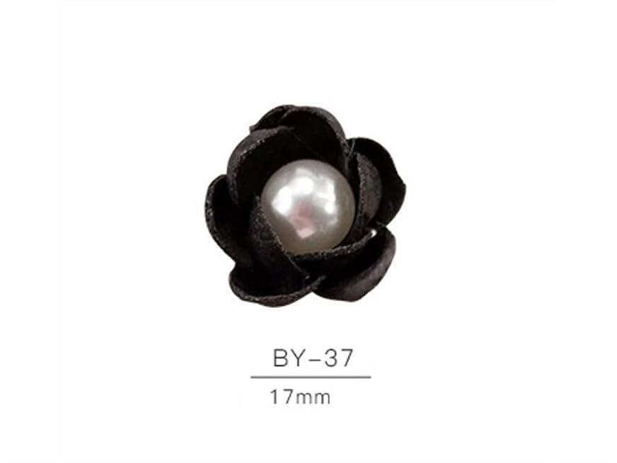 提供ウッズ首相Osize 2個のカラフルなネイルアート樹脂真珠の宝石類ファブリックネイルアートデコレーションネイルステッカー(黒)