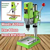MINIQ Bench Drill Stand 710W Mini Electric Bench Drilling Machine Drill Chuck 1-13mm