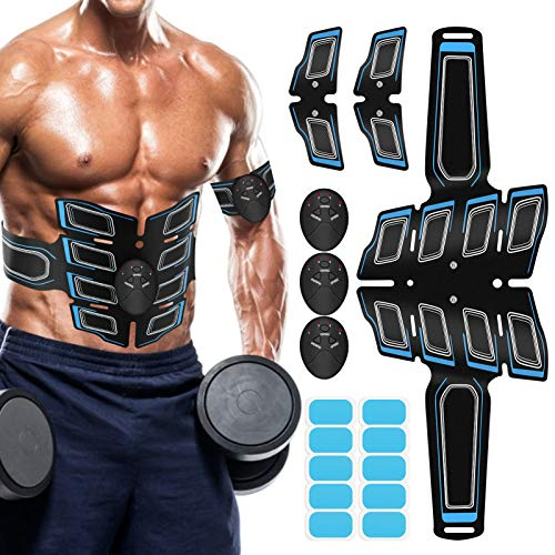 Muscle Toner Abdominal Toning Belt ABS Toner Body Muscle Trainer Wireless Portable Unisex Fitness Training Gear for Abdomen/Arm/Leg Training Home Office Exercise