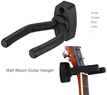 Guitar Mount Wall Hanger Stand Ukulele Wall Hook Keep Holder Mount Display 2 Pack with Guitar Picks Violin Wall Stand...