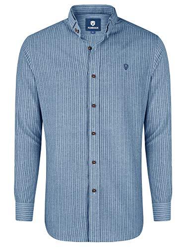 Almbock Trachtenhemd für Herren - Hemd gestreift Männer Größe XL