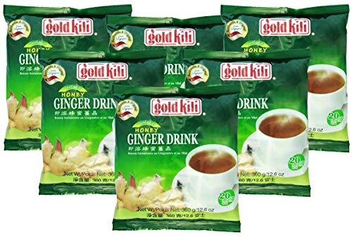 6er Pack GOLD KILI [6x 20x 18g] Instant Ingwer Getränk Großpackung Ginger Drink