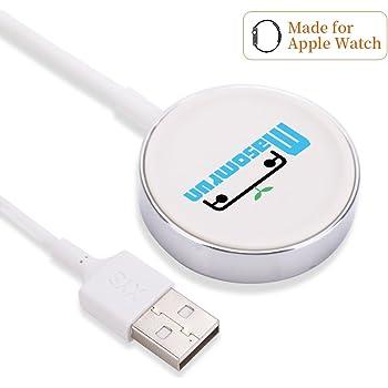 Amatage Apple Watch Chargeur, 2 en 1 Chargeur sans Fil