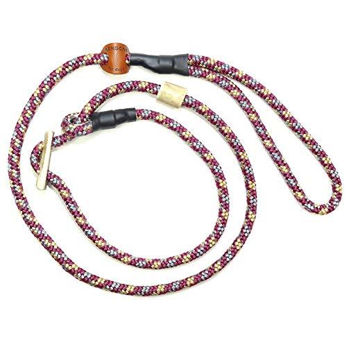 KENSONS for dogs Retrieverleine Sporty | robuste Hundeleine aus Tau mit integrierter Halsung | Ø8mm | Horn-Zugstopp