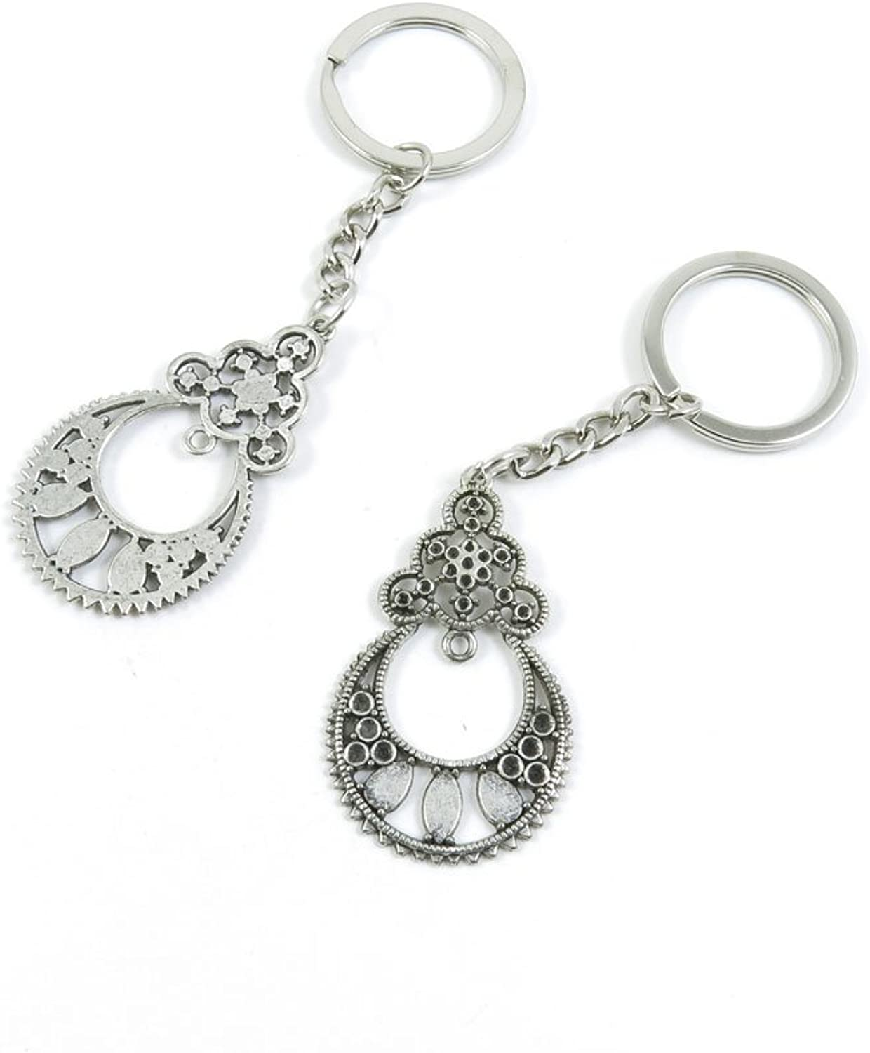 100 Pieces Keychain Keyring Door Car Key Chain Ring Tag Charms Bulk Supply Jewelry Making Clasp Findings P4EH7X Ear Drop Earring Connector Joiner