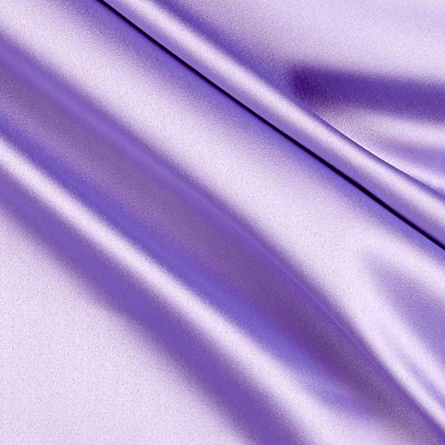 Stretch L'Amour Satin Purple, Fabric by the Yard