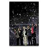 Amugo One Direction Concert Canvas Art Poster and Wall Art Picture Print Modern Family Bedroom Decor Posters-Framed,12'×18'(30X45cm) (12'×18'(3045cm), Frameless-style1)