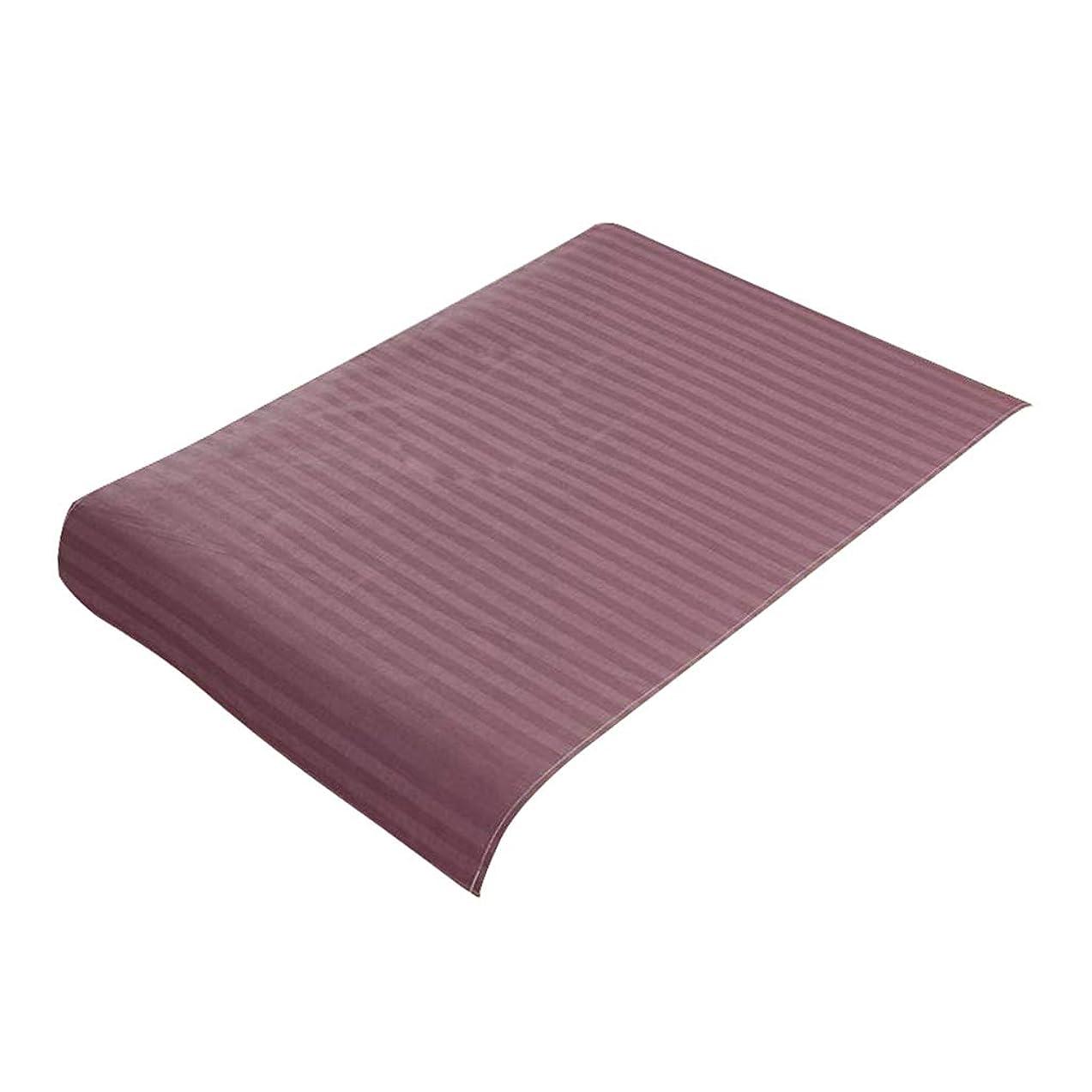 透明に嘆願ブリークP Prettyia スパ マッサージベッドカバー 美容ベッドカバー 綿製 断面 マッサージテーブルスカート 60x90cm - 紫