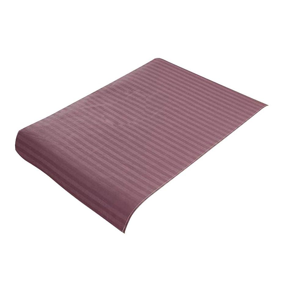 ペデスタル持続的自分P Prettyia スパ マッサージベッドカバー 美容ベッドカバー 綿製 断面 マッサージテーブルスカート 60x90cm - 紫