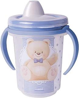 Caneca de Transição 330 ml Urso, Plasútil, 008451-2683, Azul