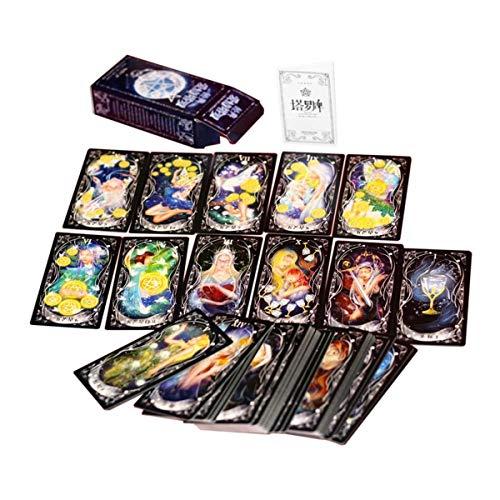 Diseño Divertido Juego de Cartas de Tarot portátil Familia Amigos Entretenimiento Leer Mythic Fate Adivinación Juegos de Mesa Tarjetas Amor Aleatorio