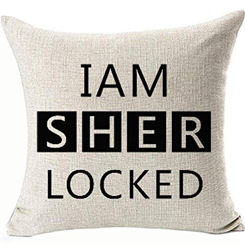 FaceYee Pillow Covers I Am Sherlock Cushion Pillowcases Detective Sherlock Pillowcases for Children Kids Home Couch Sofa Decor Two Side Color:Sherlock Decor