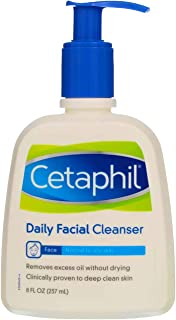 Cetaphil Daily Facial Cleanser, Normal to Oily Skin - 8 fl oz (Pack of 2)