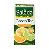 Salada Decaffeinated Citrus Medley Green Tea, Individually Wrapped Tea Bags, 20 Count - Pack of 6 (Package May Vary)