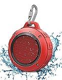LENRUE Altavoces Bluetooth Ducha, Portátil Speaker IPX5 Impermeable Inalámbrico con Ventosa, HD Estéreo, Bass, 6 Horas de Reproducción, Mini Altavoz para Outdoor, Playa, Ducha, Viaje y Hogar (Rojo)