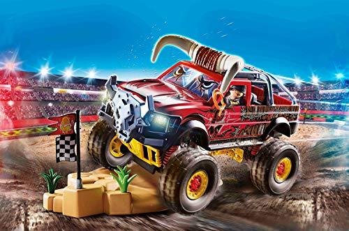 PLAYMOBIL Stuntshow 70549 Monster Truck Horned, Para niños de 4 a 10 años