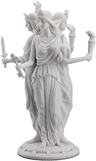 Hecate Greek Goddess of Magic & Witchcraft Statue Sculpture White Finish