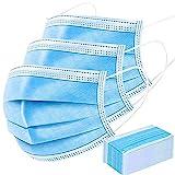 マスク在庫あり 使い捨てマスク(50ブルー) 一次性防護 不織布 フェイスマスク 3層構造 高密度フィルター素材 通気性 立体レギュラーサイズ 男女兼用 防水 防塵 風邪予防 個人の健康保護