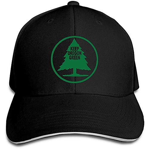 Halten Sie Oregon Green Trucker Baseball Cap verstellbare Spitze Sandwich Hut