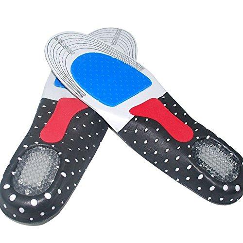 Serui Hombre Gel Ortopédico Deporte Correr Plantillas Insertar Zapato Pad Arco Soporte Cojín