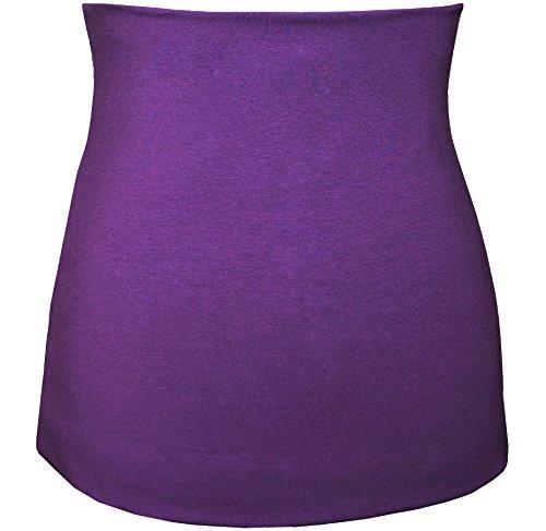 Nierenwärmer - Baumwolle - Jersey - lila / violett - Bauchwärmer / Rückenwärmer - 0 bis 3 Jahre - Kinder - für Blasenentzündung Mädchen Jungen Baby - Kinderni..
