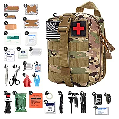 LAOZYBF [2020 Upgrade] Medical Reinforcement First Aid Kit Camping First Aid Kit Molle Outdoor Survival Kit for Car Camping Hunting Hiking and Adventures ?Camouflage?