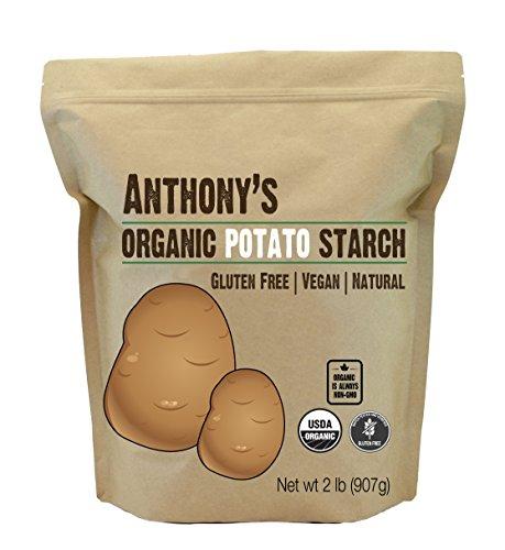 Anthony's Organic Potato Starch, Unmodified, 2 lb, Gluten Free & Non GMO, Resistant Starch