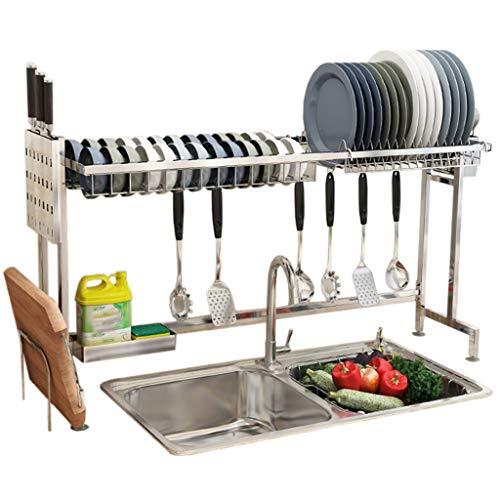 Einzelne Schicht Edelstahl 304 Abtropfgestell Küchengeschirrspüler Kompakter Besteckhalter Multifunktions-Küchenregale