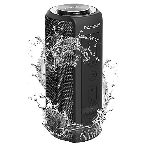 Waterproof Bluetooth Speakers, Tronsmart T6 Plus 40W Outdoor Speakers Bluetooth 5.0, IPX6 Portable Wireless Speakers with Tri-Bass Effects, 15-Hour Playtime with 6600mAh Power Bank, Built-in Mic