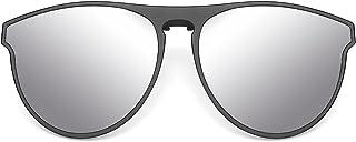 Polarized Clip on Sunglasses Women & Men, UV protection, Anti-Glare, Driving Glasses, Flip Up over Rx Glasses, Oversized