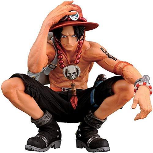 DKaony Ace Figurine One Piece, 16cm One Piece Anime Figure Ace Figur Collection PVC Figures Statue Décoration Ornements Collectibles Jouet Animations Modèle de Personnages