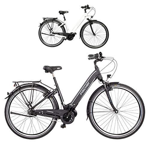 Fischer E-Bike City CITA 3.1i, Elektrofahrrad, schwarz matt, 28 Zoll, RH 44 cm, Mittelmotor 50 Nm, 48V Akku im Rahmen