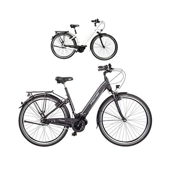 516yaz17F3L. SS600  - Fischer E-Bike City CITA 3.1i, schwarz oder weiß matt, 28 Zoll, RH 44 cm, Mittelmotor 50 Nm, 48V Akku im Rahmen