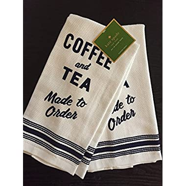 Kate Spade New York  Order's Up navy blue and white, set of 2 kitchen towels
