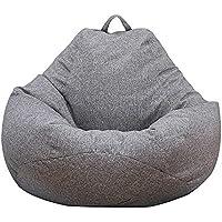 Iraza Puff Funda de Bean Bag,Kit de Sillónes de Hinchables de Adulto Infantil para Sala Dormir (Gris, 80_x_90_cm)