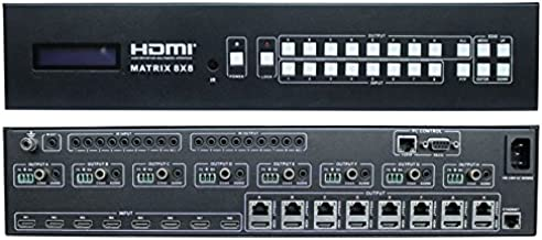 WolfPack 4K 8x16 (8x8x2) HDMI Matrix Switcher Over HDBaseT & HDCP 2.2 with 1-Year Warranty