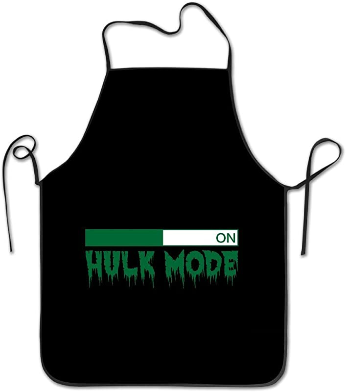 Liubajsdj Lightweight Men Awesome Chef Hulk Mode On Aprons Popular Cozy Waist Adjustable Strap For Cooking Painting Art Aprons