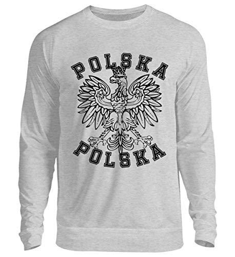 Hochwertiger Unisex Pullover - Polnische Flagge Polska Adler Fahne Wappen Geschenk Polen Länder Fan Shirt