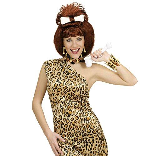Leoparden Armschmuck Steinzeit Armkette Neandertaler Armreif Knochen Armband Karneval Kostüm Zubehör Höhlenmensch Accessoire Dschungel Schmuck