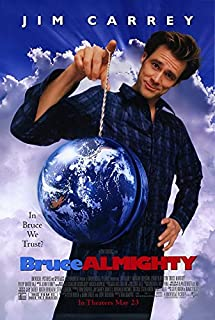 BRUCE ALMIGHTY (2003) Original Authentic Movie Poster 27x40 - Double - Sided - Jim Carrey - Jennifer Aniston - Philip Baker Hall