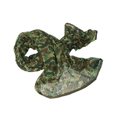 MagiDeal Netzschal zur Tarnung 190 x 90 cm, als Halstuch, Kopftuch, Kopfabdeckung Bandana / Multifunktionstuch, Camouflage